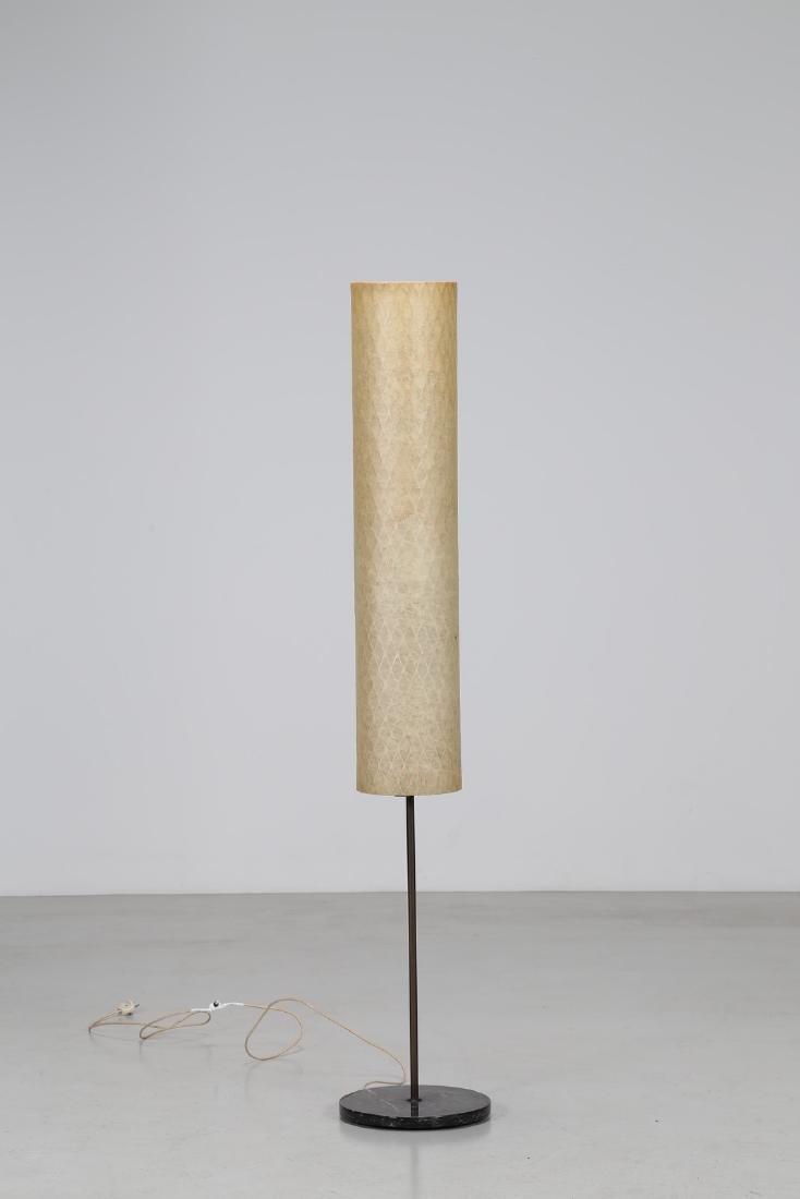 ARREDOLUCE  Lampada da terra in metallo e ottone,