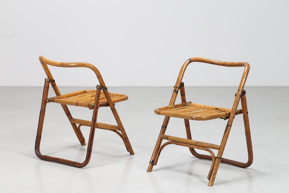 MANIFATTURA ITALIANA  Coppia sedie pieghevoli in