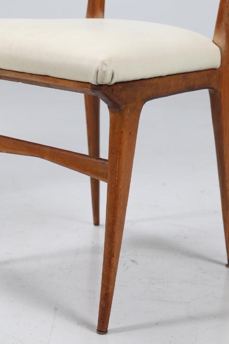 MANIFATTURA ITALIANA  Sei sedie in legno e sky, anni