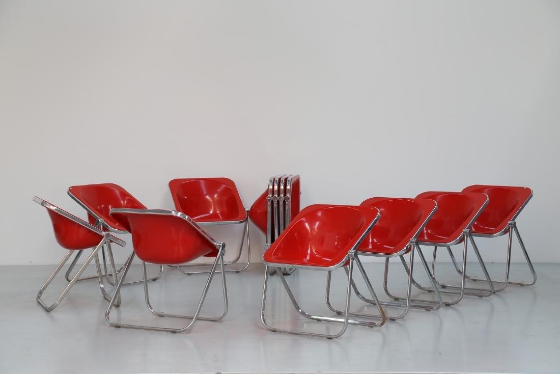 GIANCARLO PIRETTI Dodici sedie in metallo cromato e