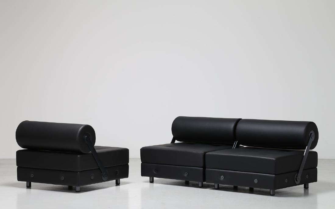 JEAN-MICHEL  WILMOTTE Tre sedute modulari in metallo
