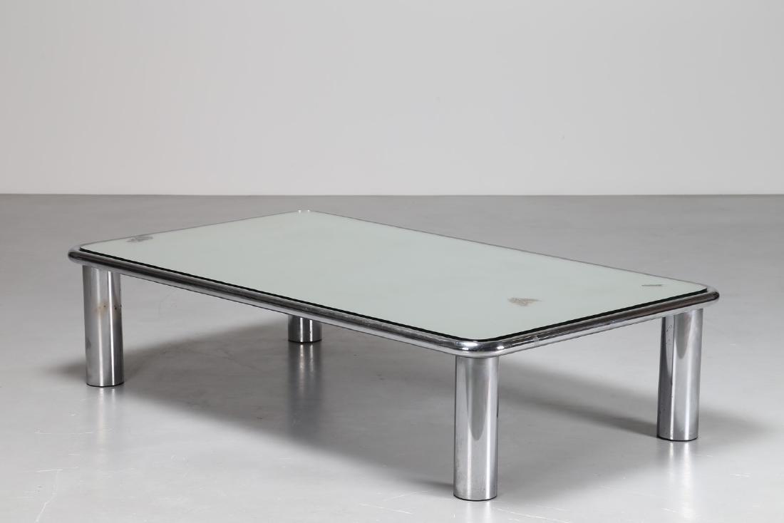 GIANFRANCO FRATTINI Tavolino da caffe' in acciaio