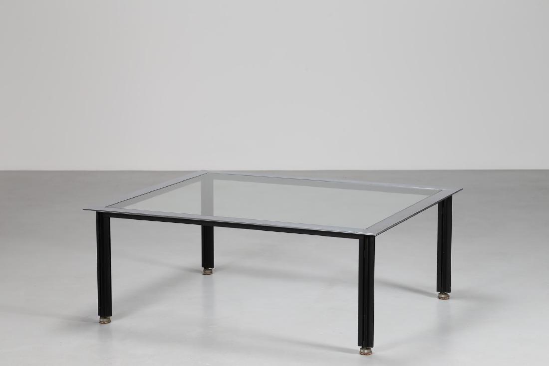 LUIGI CACCIA DOMINIONI Tavolino in acciaio verniciato e