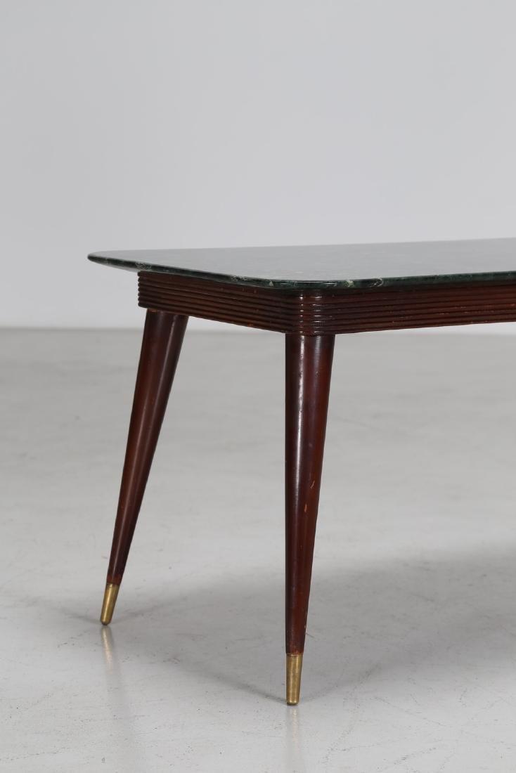 PAOLO BUFFA Tavolino in legno e ottone con piano in