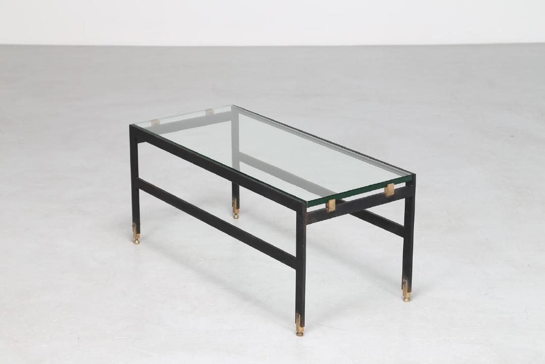 FONTANA ARTE  Tavolino da caffè in metallo e