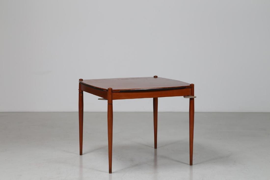GIO' PONTI Tavolo da gioco in legno, sky e dettagli in
