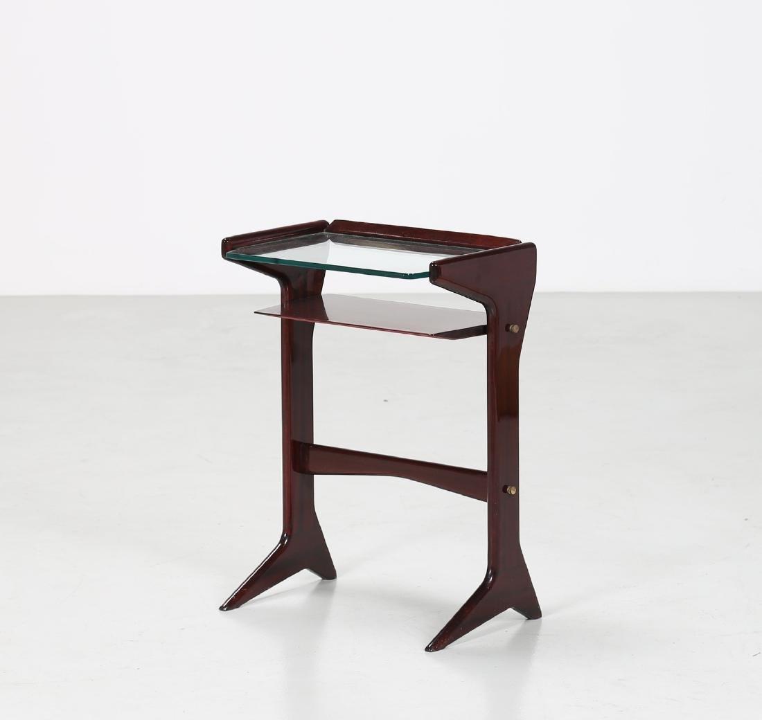 ICO PARISI Tavolino in legno e vetro, mod. 360, per