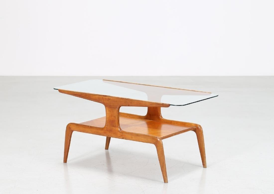 GIO' PONTI Tavolino da caffe in frassino e piano in
