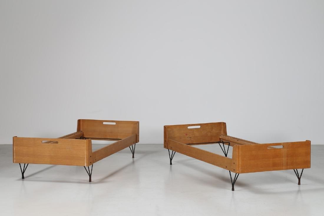 RIMA  Coppia di letti in tondino di ferro e multistrato