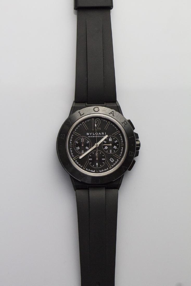 BULGARI  Bulgari chronograph watch.