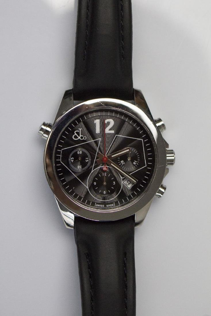 JACOB & CO Steel Jacob&Co chronograph watch. Box and