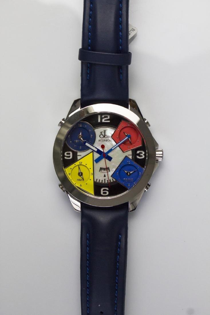 JACOB & CO Steel Jacob&Co chronograph watch. Box and