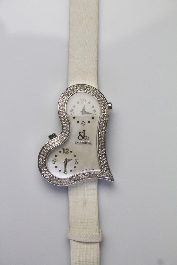 JACOB & CO Steel and diamonds Jacob&Co watch. Box and