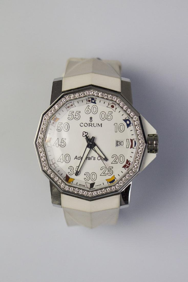 CORUM Steel and diamonds Corum watch. Box and guarantee