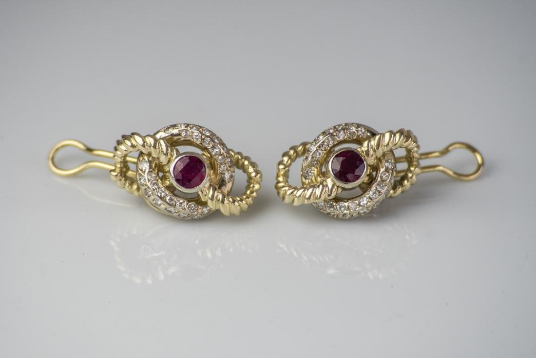 [Nessun Autore] 18kt white and gold earrings, gr 30.02.
