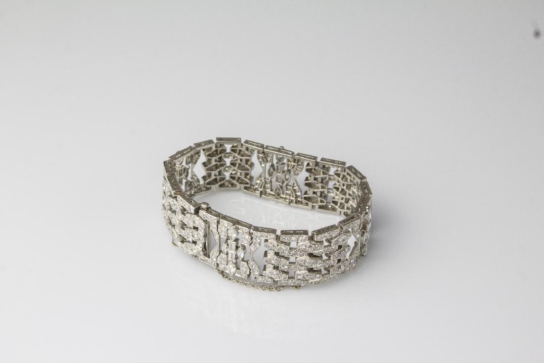 [Nessun Autore] Art Decò platinum bracelet with