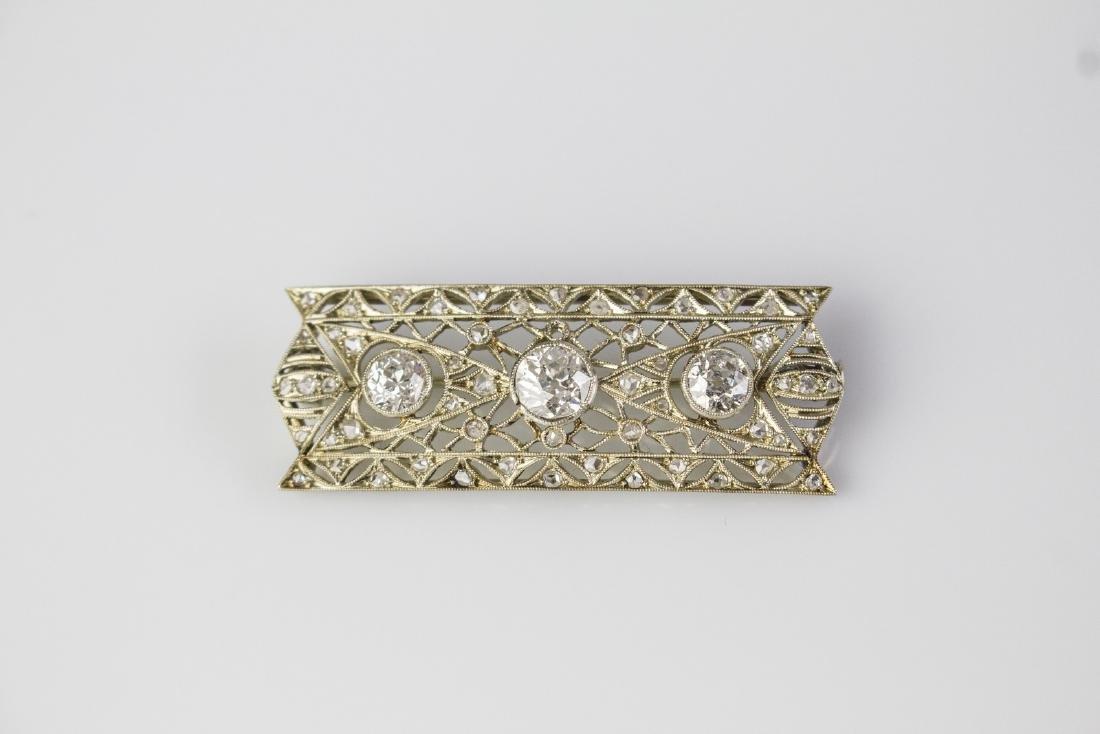 BUCCELLATI  Buccellati platinum brooch with diamonds.