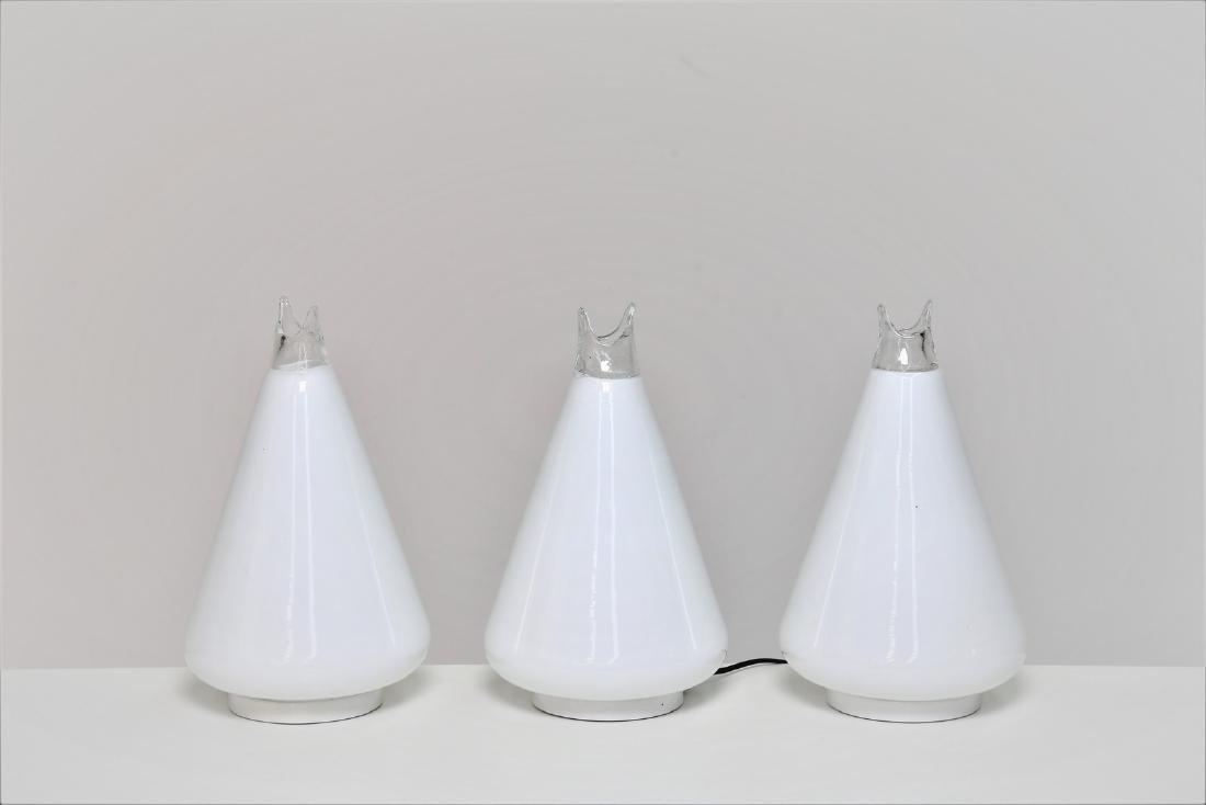 GUIDO TOSO Tre lampade da tavolo .