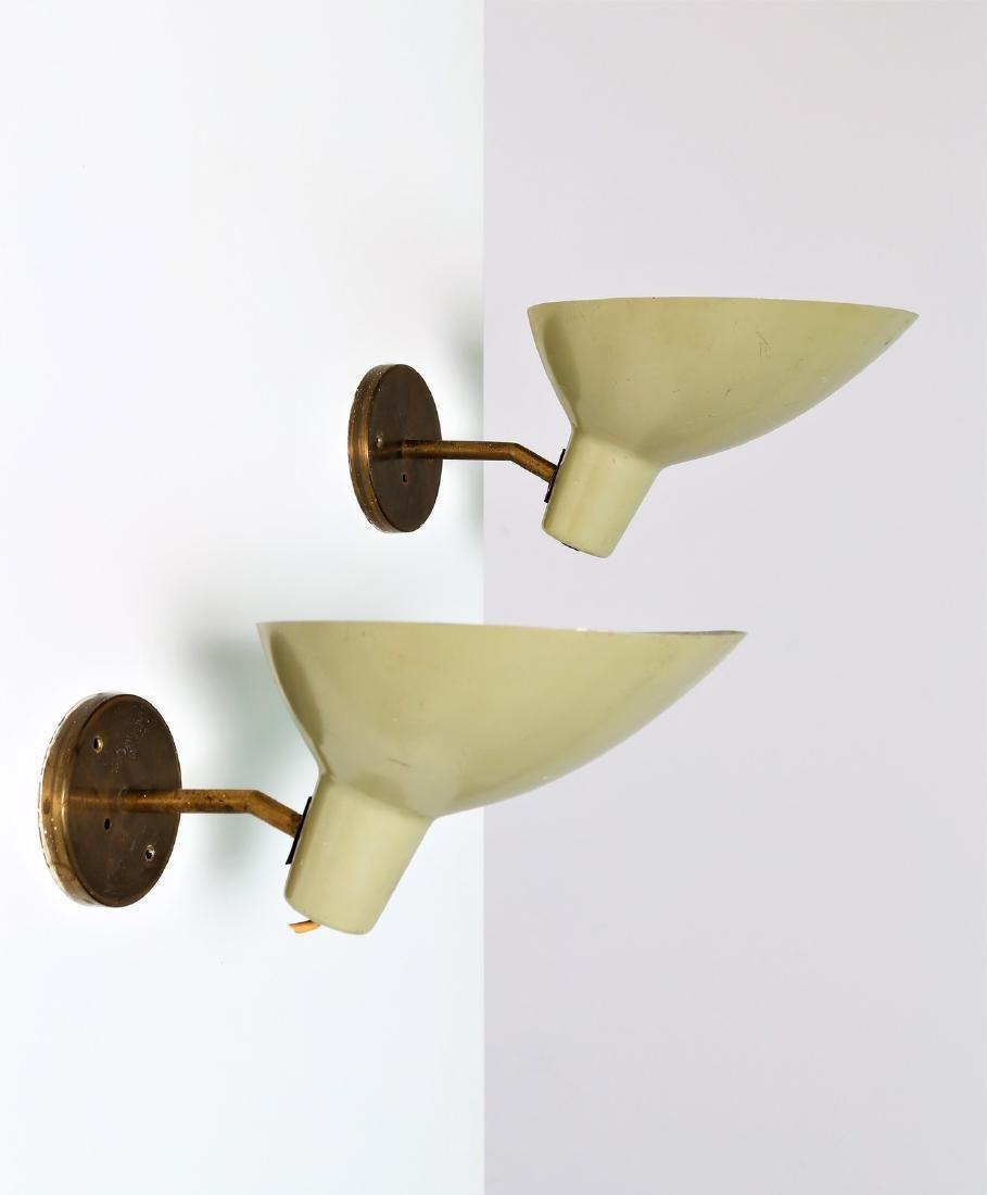 VITTORIANO VIGANO' Pair of wall lamps.
