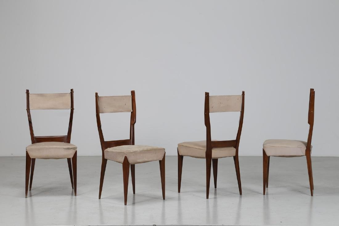 GIUSEPPE AMEDEO GORI Four chairs.