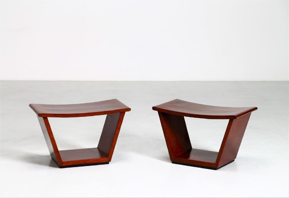 OSVALDO BORSANI Pair of stools.