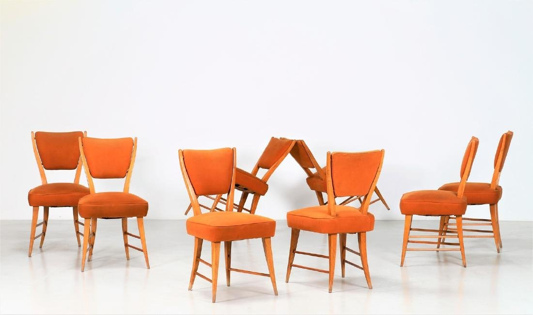 ITALO GAMBERINI Eight chairs.