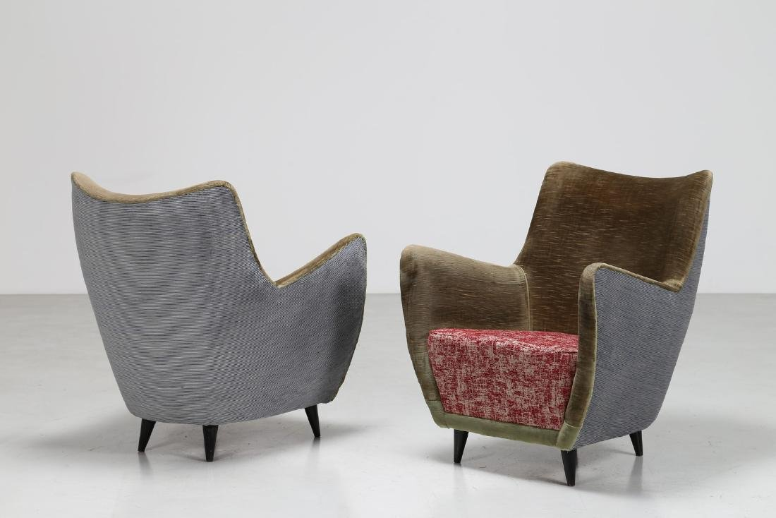 MELCHIORRE BEGA Pair of armchairs.