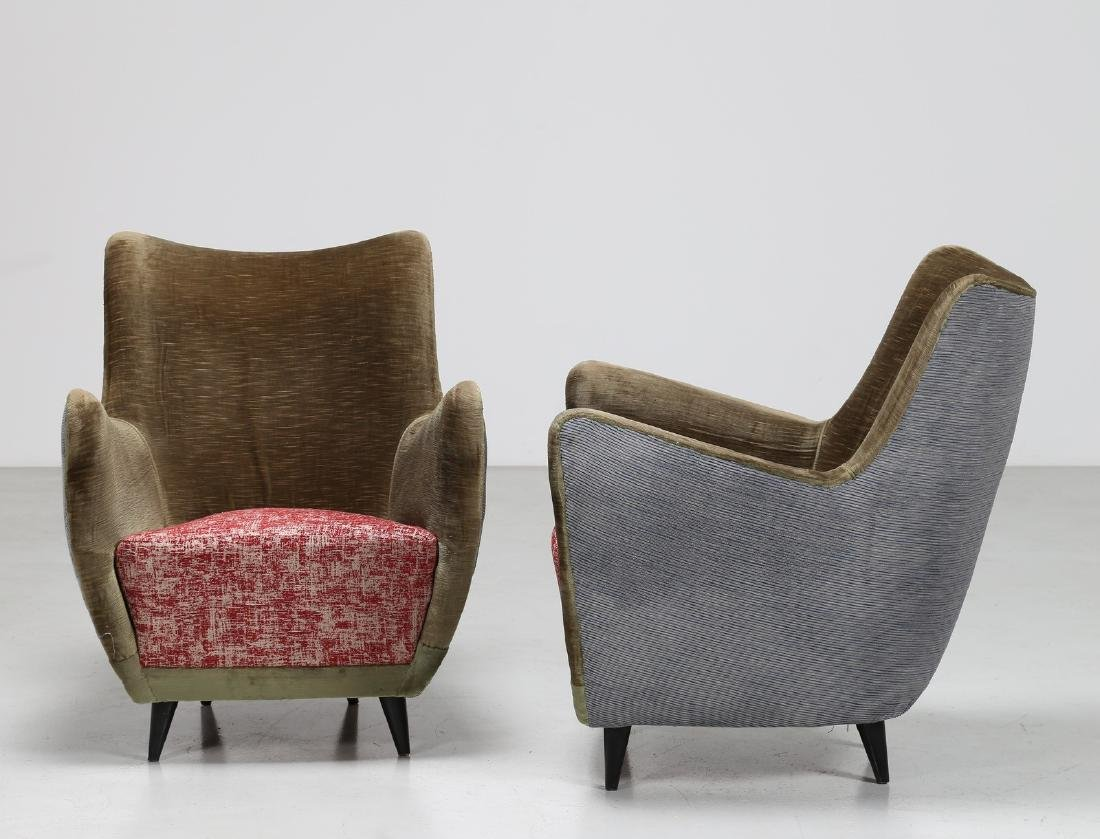 MELCHIORRE BEGA Pair of armchairs. - 2