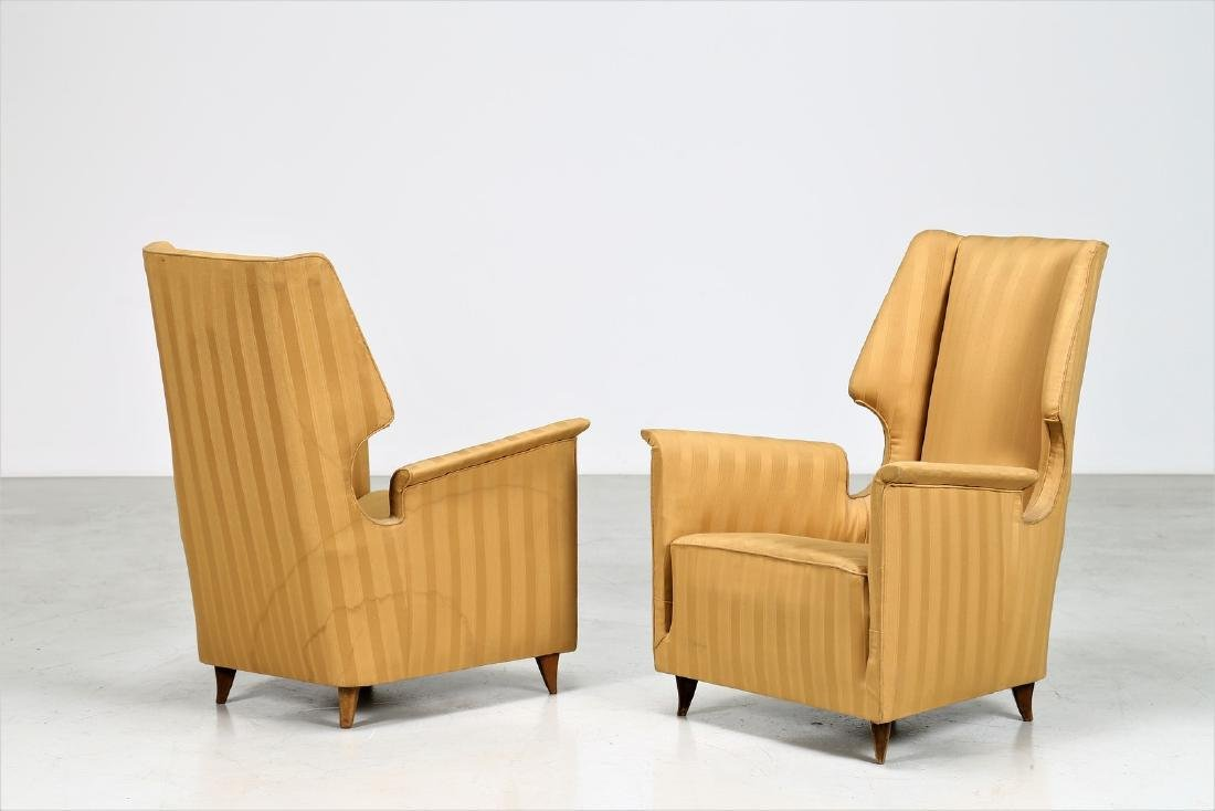 GIUSEPPE AMEDEO GORI Pair of armchairs.