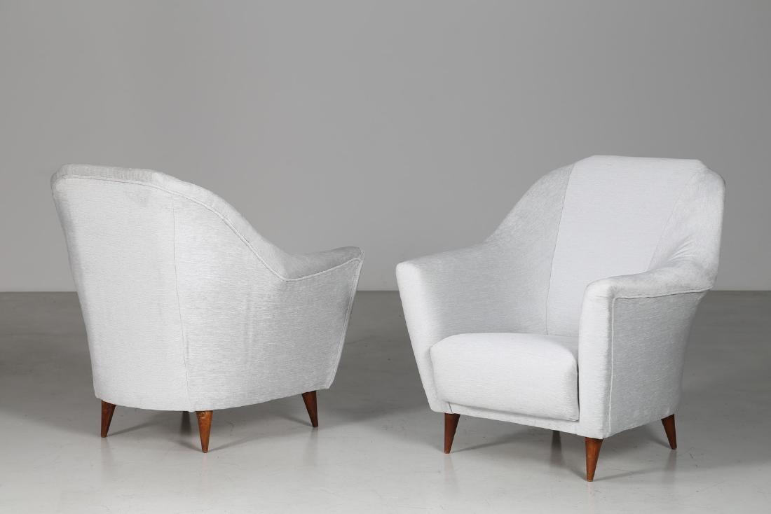 ICO PARISI Pair of armchairs.