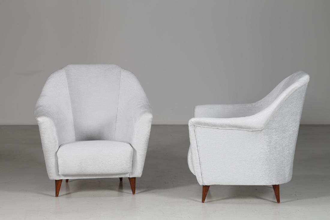 ICO PARISI Pair of armchairs. - 2