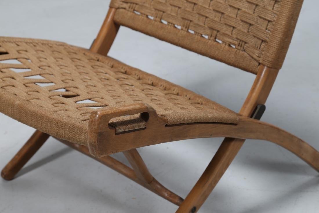 HANS J. WEGNER Pair of folding armchairs. - 4