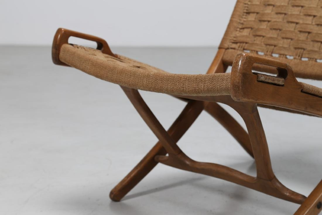 HANS J. WEGNER Pair of folding armchairs. - 5