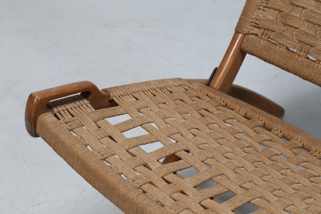 HANS J. WEGNER Pair of folding armchairs. - 6