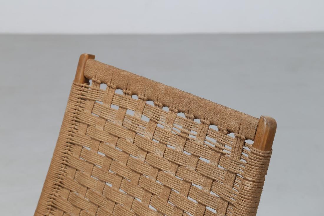 HANS J. WEGNER Pair of folding armchairs. - 7