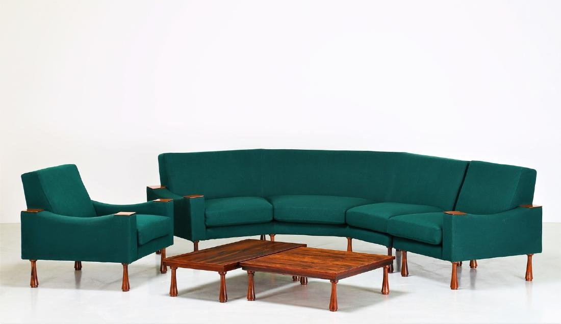 ANGELO MANGIAROTTI Modular living room with tables. - 5