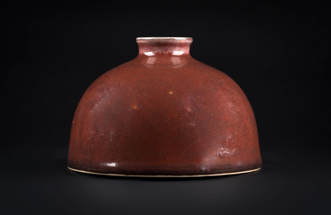 Arte Cinese  A peachbloom glazed beehive waterpot