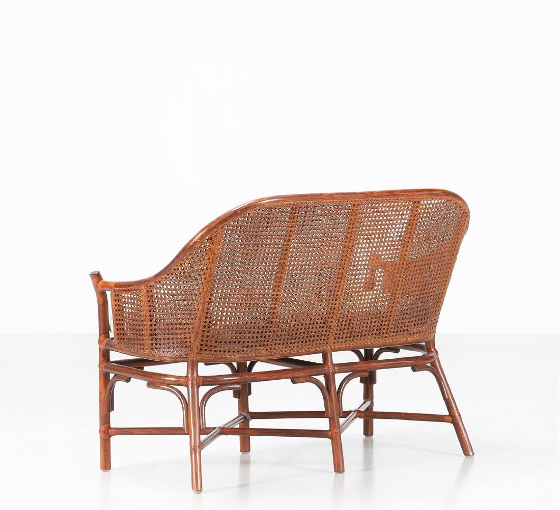 BONACINA 1889 Small sofa in bamboo and cane. - 3