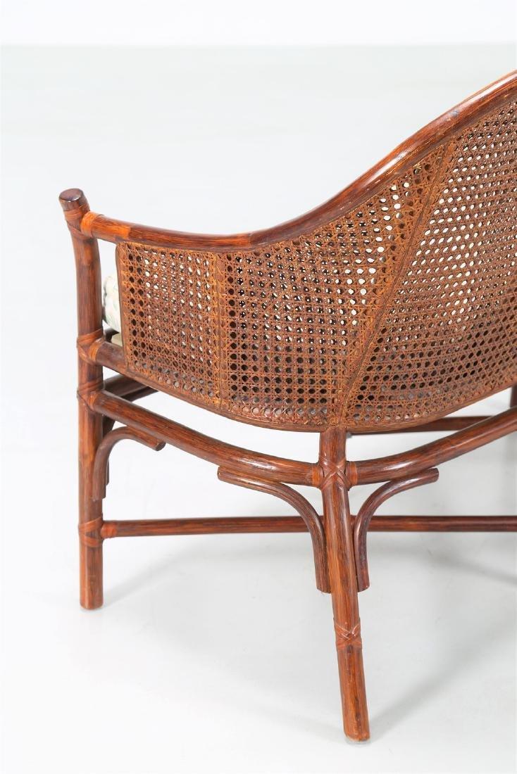 BONACINA 1889 Small sofa in bamboo and cane. - 4