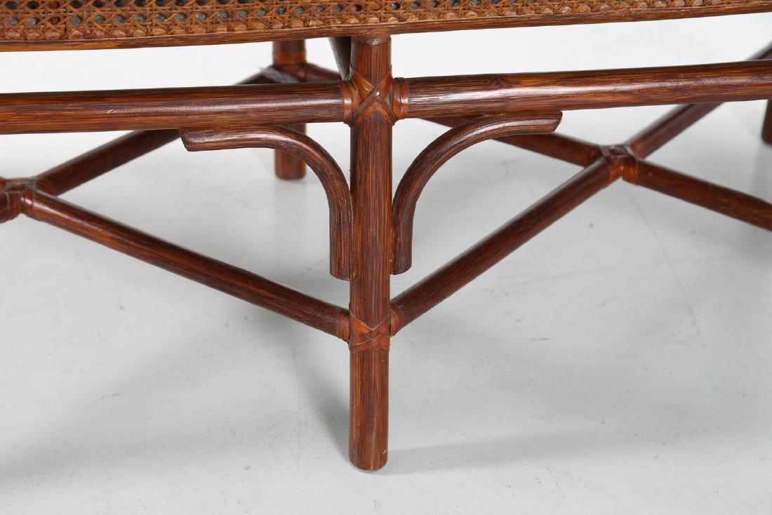 BONACINA 1889 Small sofa in bamboo and cane. - 5