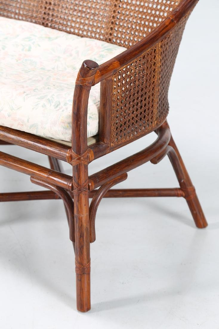 BONACINA 1889 Small sofa in bamboo and cane. - 6