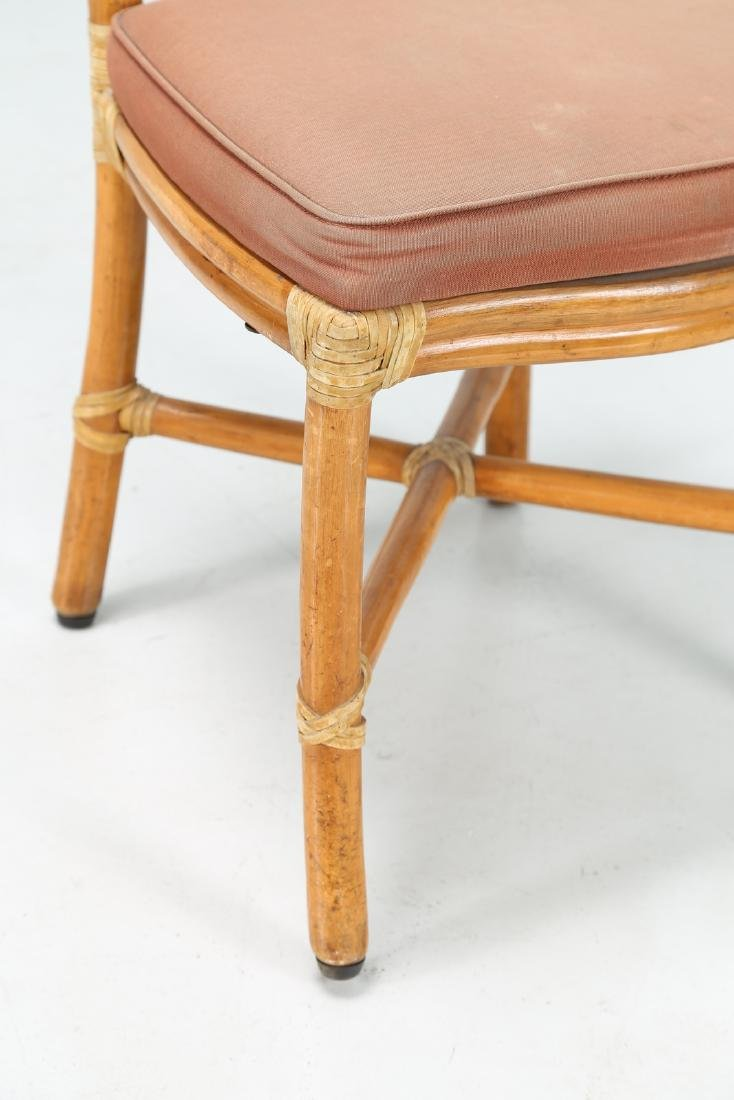 BONACINA 1889 Four bamboo and fabric chairs. - 2