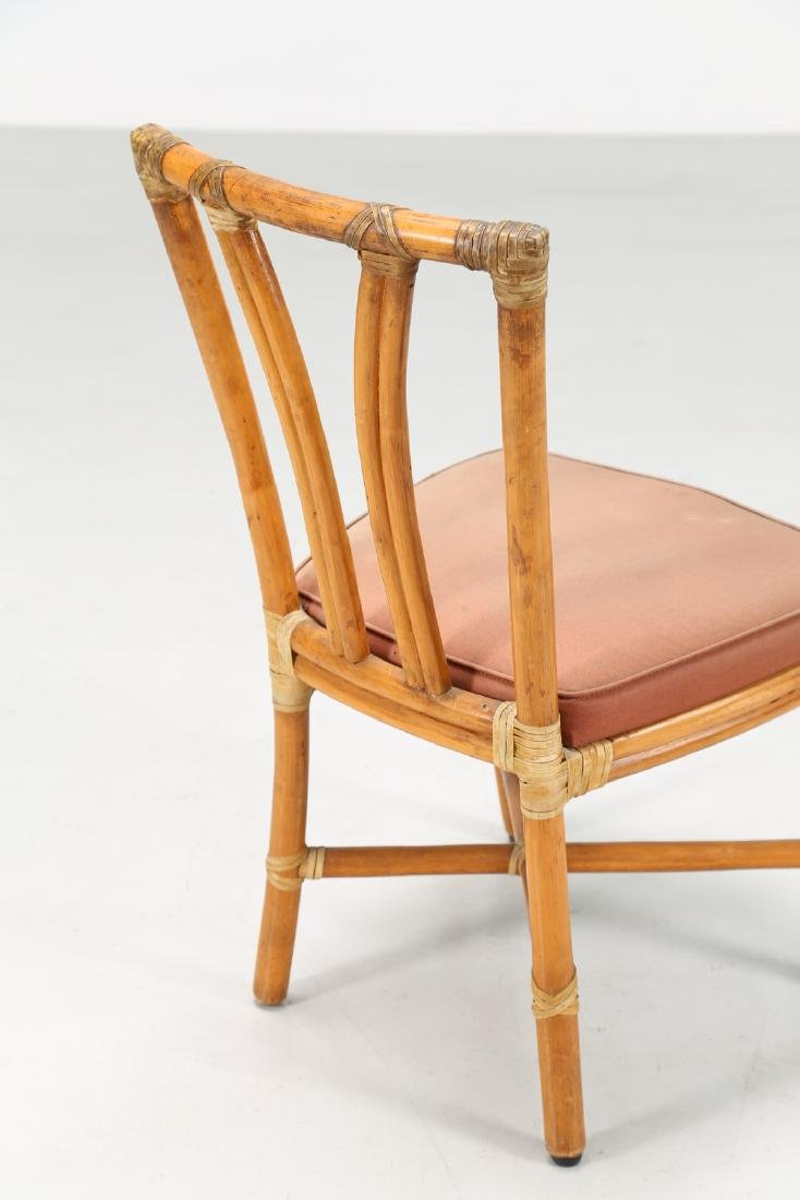 BONACINA 1889 Four bamboo and fabric chairs. - 4