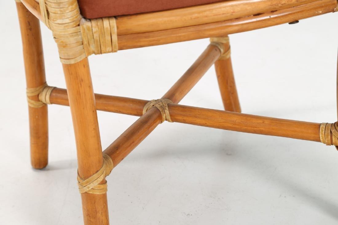 BONACINA 1889 Four bamboo and fabric chairs. - 5