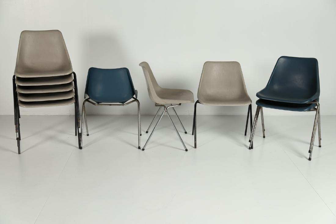 MANIFATTURA ITALIANA  Ten chairs.
