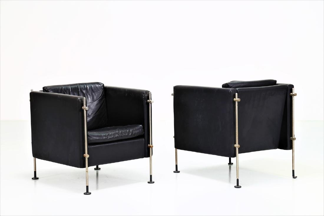 BURKHARD VOGTHERR Pair of armchairs in chromed metal