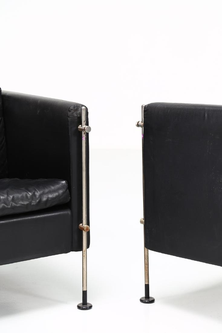 BURKHARD VOGTHERR Pair of armchairs in chromed metal - 3