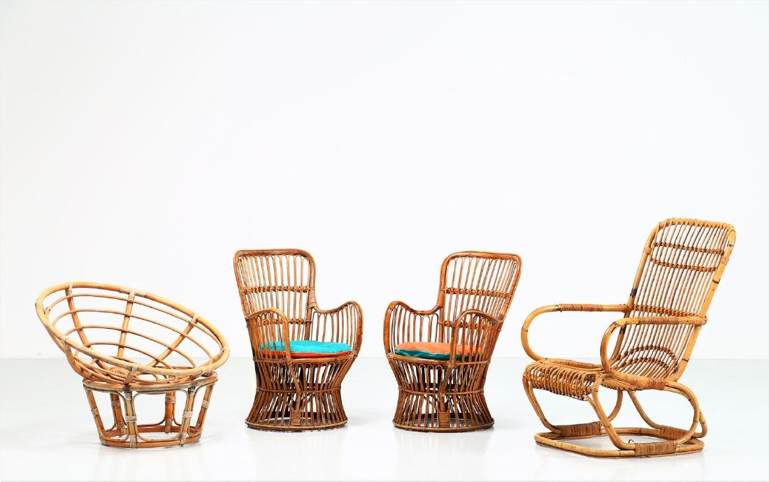 MANIFATTURA ITALIANA  Pair of armchairs and two other