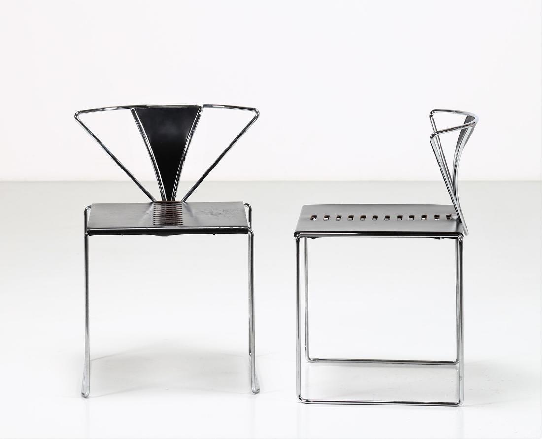 KAZUHIDE TAKAHAMA Pair of chairs in chromed metal and - 2