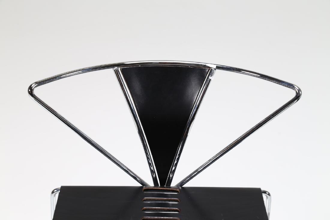 KAZUHIDE TAKAHAMA Pair of chairs in chromed metal and - 3